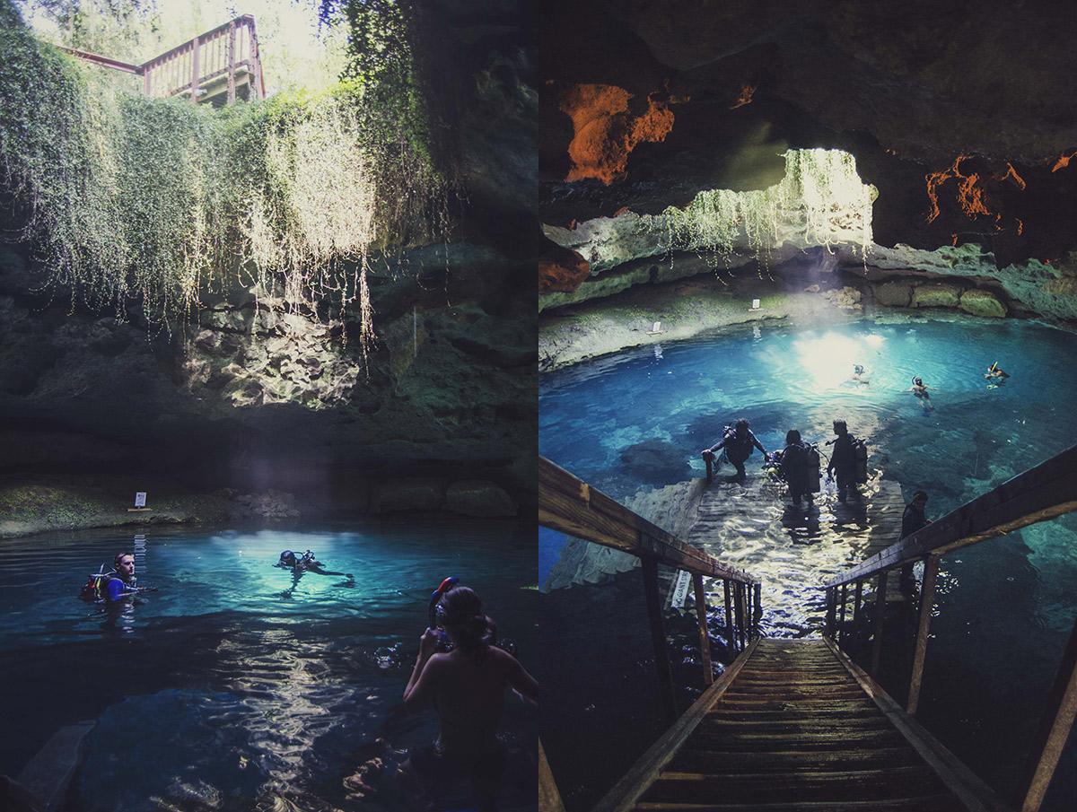 diving snorkeling cave underground cavern Gainesville Williston Florida Devils Den Millhopper Brittany Norris (9)