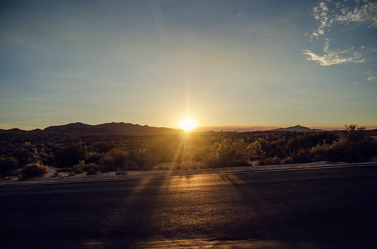 road trip america go west sisters camping driving joshua tree national park california
