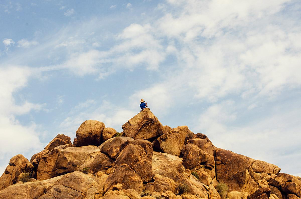 road trip america go west sisters camping driving joshua tree national park california hiking mastodon