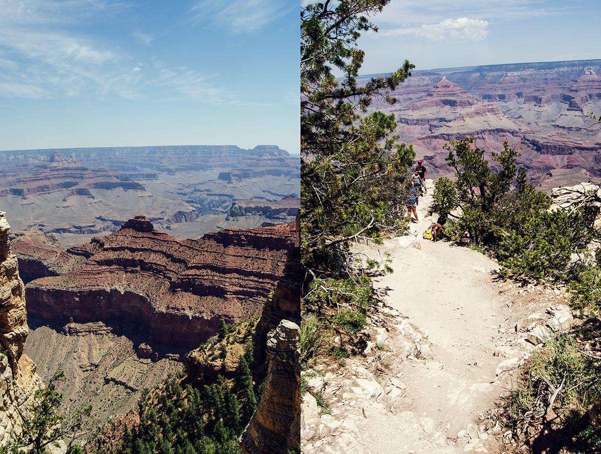 road trip america go west sisters camping driving grand canyon arizona