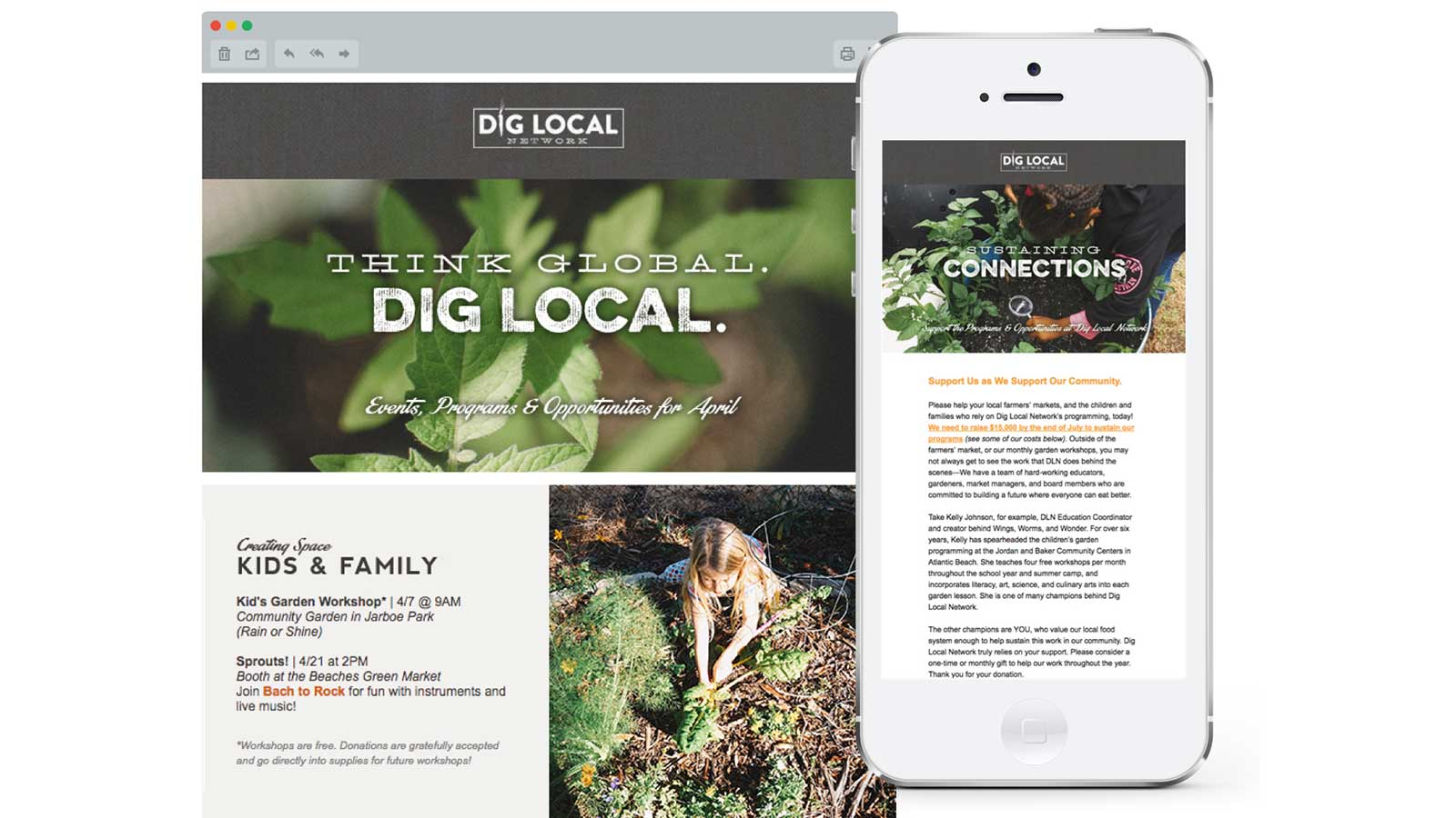 Dig Local Network graphic design email development