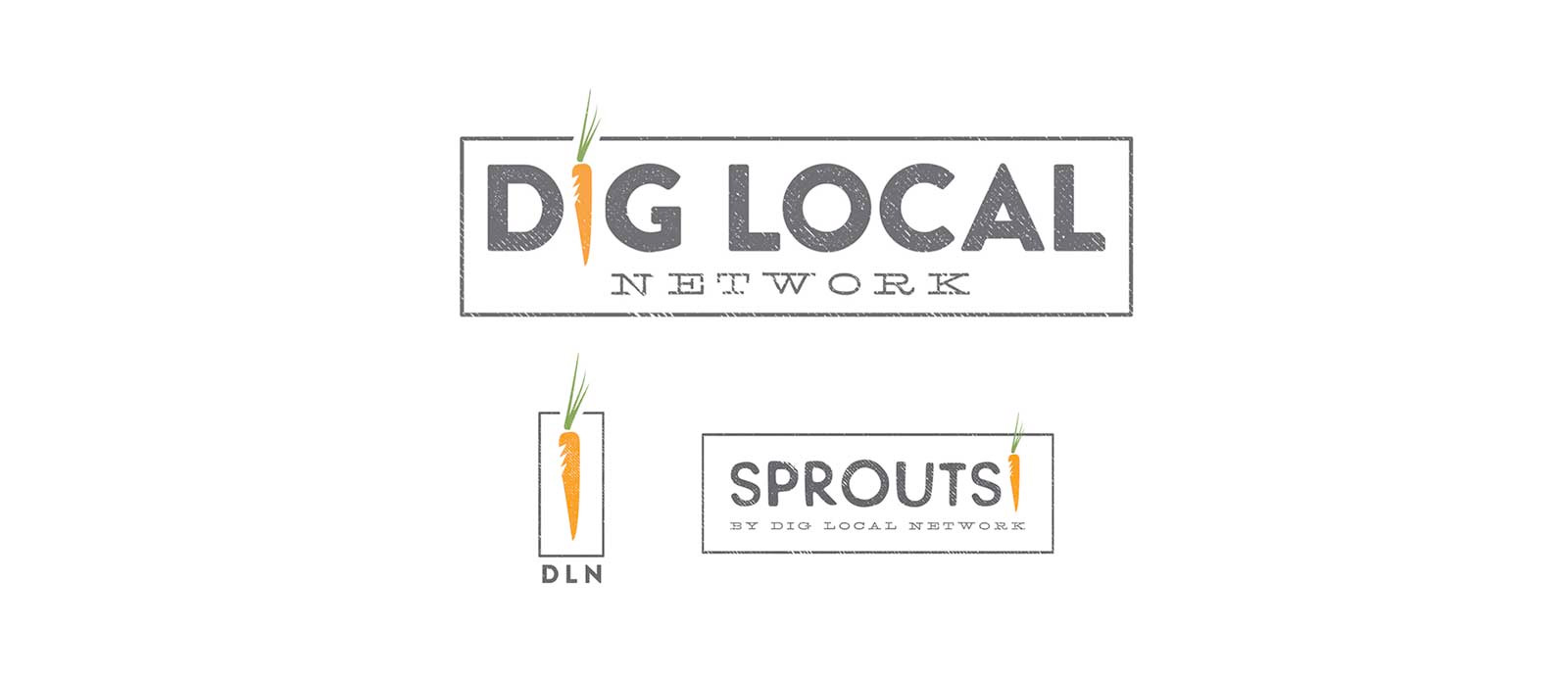 Dig Local Network graphic design logo design branding